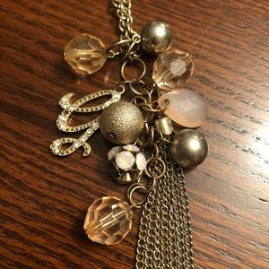 Guess Pink and Gold Necklace